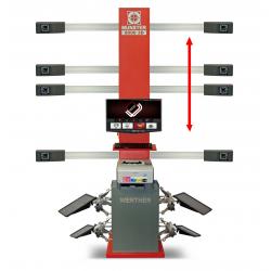 9000-3D_Lift - MUNSTER instrument do pomiaru i regulacji geometrii kół 3D, zabudowa z podnośnik